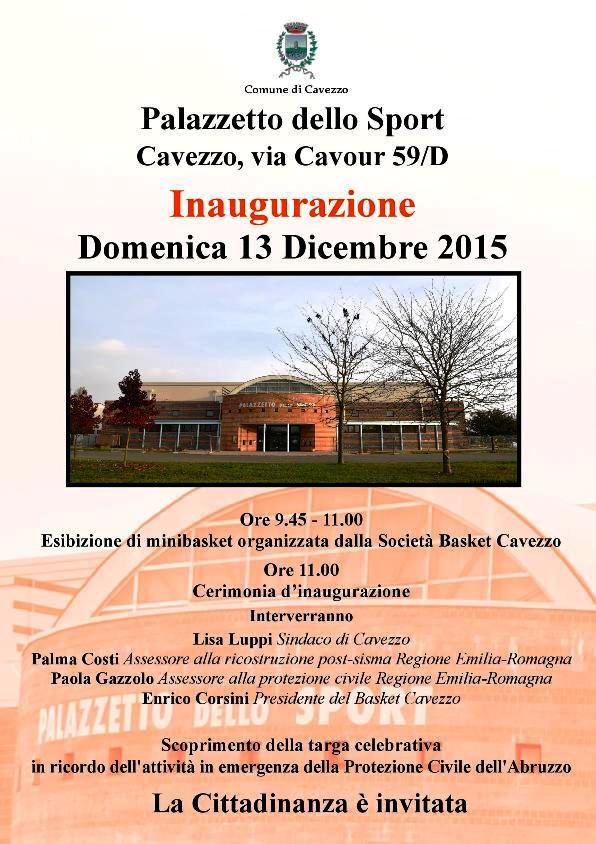 CAVEZZO - PALASPORT Programma - 13dic15